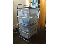 4 Drawer Storage Trolley
