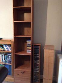 Nice tall display cabinet in wood