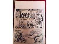 2000AD ORIGINAL ARTWORK - MASSIMO BELADRINELLI - MELTDOWN MAN / MEAN TEAM / MOON RUNNERS / BLACKHAWK
