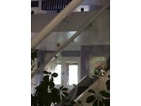 2 x 8mm thick Glass Stair Panel.