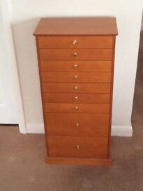 Sewing chest of drawers