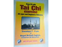 Tai Chi starts tonight!