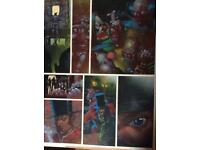 2000AD FULLY PAINTED COLOUR ORIGINAL ART COMIC PAGE.