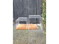 2x perspex nest tables for sale
