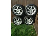 "4 x 16"" Alloy wheels + BF Goodrich Tyres"
