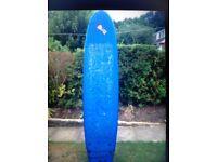 Blue surf board