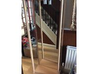 PIne effect and glass display cabinet