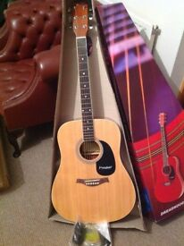 NEW Westfield B200 Acoustic Guitar with bag, strap and accessories