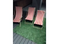 3 Deck chairs for sale