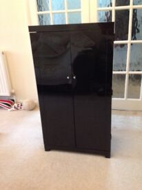 Black gloss CD cabinet