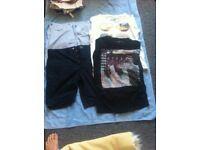"Men's large t-shirts/38"" shorts bundle"
