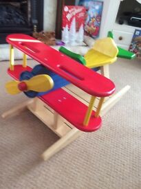 Marks and Spencer Beautiful Sit on Children 's Wooden Rocking Plane