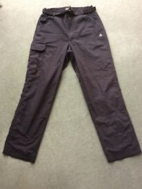 MENS CRAGHOPPERS WARM LINED WALKING TROUSERS
