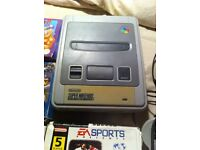 Super Nintendo with 9 games some boxed