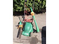 Lawnmowers and hedge trimmers for sale