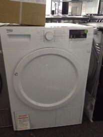 Beko 8kg white condensing dryer £210 12 month Gtee