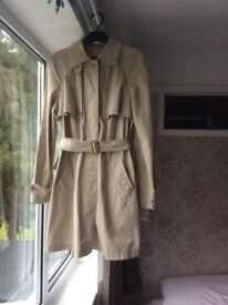 'Calvin Klein Jeans' trench coat. Good condition. Size 10/12