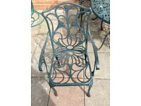 Garden patio furniture table and chairs (sold pending collection)