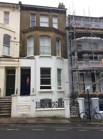 A spacious lower ground floor flat near Brighton Station