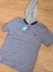 BOYS BRAND NEW POLO HOODED TOP