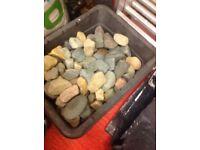 Mixed garden cobbles in black box £8