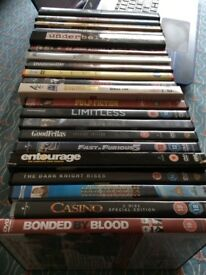 21 Assorted DVD's. Great condition. 4 X 2 Discs, 1 X 3 Discs and 1 X 4 Discs.