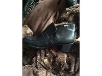 New Camper black leather boots size 39.5