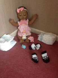 African American Luvabella played with twice