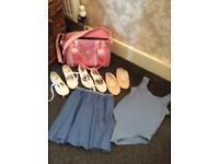 Ballet bundle tap shoes ballet shoes bag leotard skirt