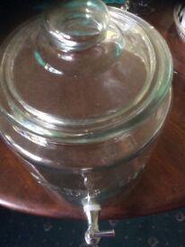 Large Glass Drink Dispencer