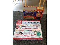 DK games silly sentences and Fireman 5 story book children activity set