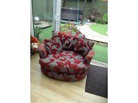 Charcoal Grey Corner Settee and Swivel Chair