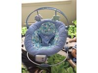 Blue musical baby bouncer REDUCED