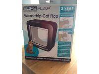 Unused brand new condition Sure Flap Microchip Cat Flap (Brown Colour)