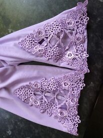 Lilac Cropped Leggings