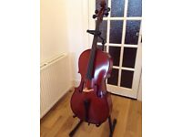 3/4 Student Cello Outfit with Pod Case