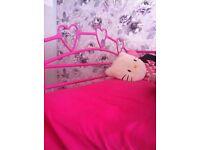 Pink heart bunk beds