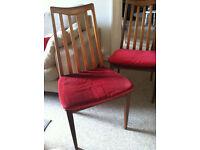 G Plan Fresco Chairs x 2 Retro 60s 70s
