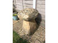 Large Staddle Stone Mushroom Garden Ornament