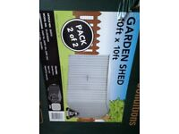 New Boxed Large Metal Garden Shed 10ft x 10ft