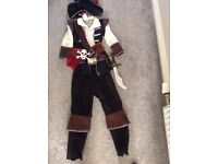 5-6 years Pirate dressing up costume world book day
