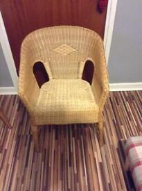 Wicker chairs x 2 very good condition