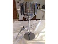 Laura Ashley Vienna Chrome & Crystal Table Lamp