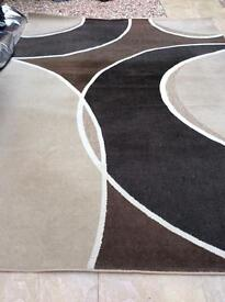 brown rug 10ft 10 by 7ft 91/2