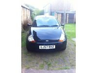 FORD BLACK KA ,2 OWNERS, 50695 MILES ,MOT TILL NOV,COMES WITH £150 SONY BLUETOOTH STEORO