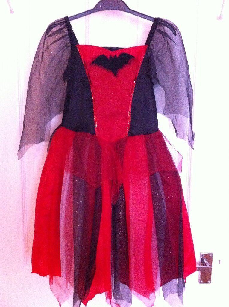 Fancy dress - Red & Black Witch/Vampire Princess