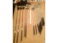 Full golf club set with bag and trolley