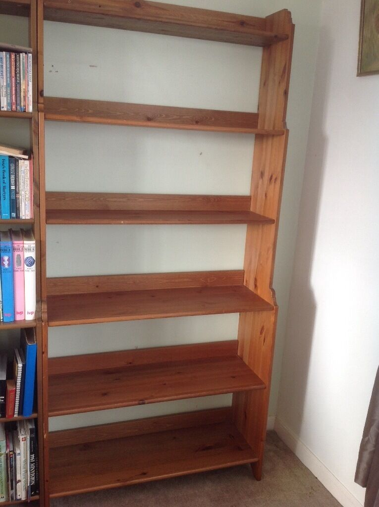 Ikea leksvik bookcase bookshelves in vgc in pencoed for Ikea wooden bookshelf