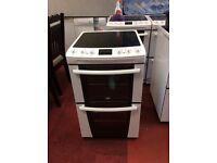 zanussi 55cm electric cooker three month guarantee
