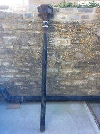 Old Cast Iron Down Pipe with Hopper with wall Bracket